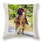 Miss Aleto And The Cowboy Iv Throw Pillow
