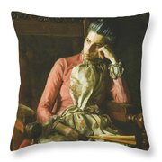 Miss Amelia Van Buren Throw Pillow