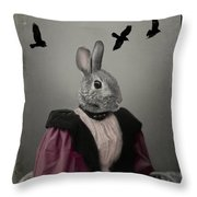 Miss Bunny And Crows Throw Pillow