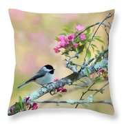 Miss Chickadee Throw Pillow