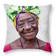 Miss Cuba Throw Pillow