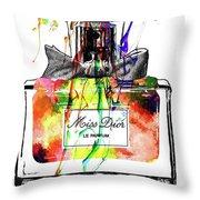 Miss Dior Grunge Throw Pillow