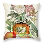 Miss Dior Notes 1 - By Diana Van Throw Pillow