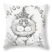 Miss E-mouse Throw Pillow
