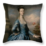 Miss Elizabeth Ingram Throw Pillow