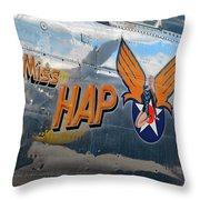 Miss Hap Throw Pillow