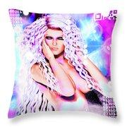 Miss Inter-dimensional 2089 Throw Pillow