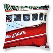 Miss Janice Throw Pillow
