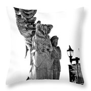 Miss Liberty And The Immigrant Family Throw Pillow
