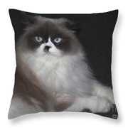 Miss Lillie The Kitty Throw Pillow