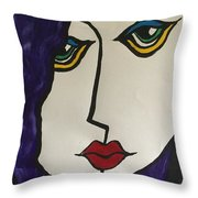 Miss Lonely. Throw Pillow