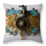 Miss Mariposa Throw Pillow