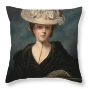 Miss Mary Hickey Throw Pillow