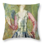 Miss Nancy Cunard Throw Pillow