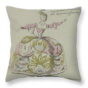 Miss Puvigne As Air, In Zoroastre, A Libretto By Cahusac Throw Pillow
