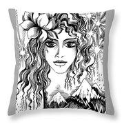 Miss Spring Throw Pillow