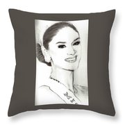Miss Universe 2015 Throw Pillow