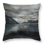 Missezula Lake Sunset Throw Pillow