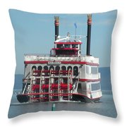 Missing The Boat Throw Pillow