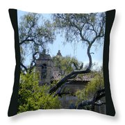 Mission At Carmell Throw Pillow