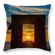Mission Beach 2 Throw Pillow