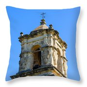 Mission Bell Tower Throw Pillow
