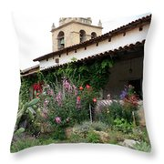 Mission Bells And Garden Throw Pillow