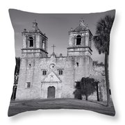 Mission Concepcion -- Bw Throw Pillow