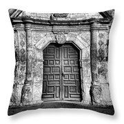 Mission Concepcion Front - Classic Bw Throw Pillow