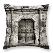 Mission Concepcion - Bw Toned Border Throw Pillow