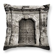 Mission Concepcion Front - Toned Bw Throw Pillow