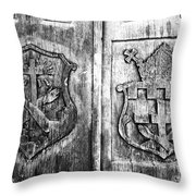 Mission Doors Throw Pillow