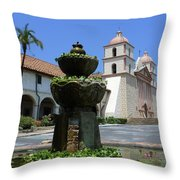 Mission Fountain Throw Pillow
