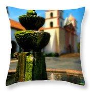 Mission Fountain Throw Pillow