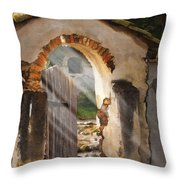 Mission Gate Throw Pillow