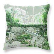 Mission Inn Cannons Throw Pillow