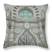 Mission Inn Chapel Door Throw Pillow