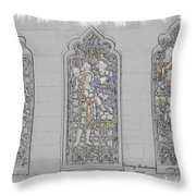 Mission Inn Chapel Stained Glass Throw Pillow