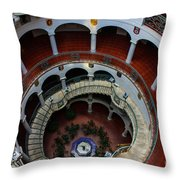Mission Inn Circular Stairway Throw Pillow