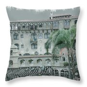 Mission Inn Court Yard Throw Pillow