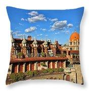 Mission Inn Skyline Throw Pillow