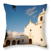 Mission Nuestra Senora Del Espiritu Santo De Zuniga At Sunset - Goliad Coastal Bend Texas Throw Pillow