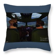 Mission Over Germany - Oil Throw Pillow