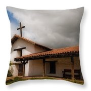 Mission San Francisco De Solano Throw Pillow by Mick Burkey