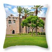 Mission San Gabriel Arcangel, San Gabriel, California Throw Pillow