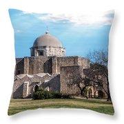 Mission San Jose Panorama Throw Pillow