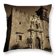 Mission San Jose - Sepia Throw Pillow