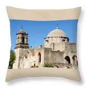 Mission San Jose Towers Throw Pillow
