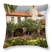 Mission San Juan Capistrano Throw Pillow by Howard Bagley