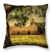 Mission San Juan Church Throw Pillow